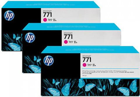 Картридж HP № 771 пурпурный тройная упаковка оригинальный