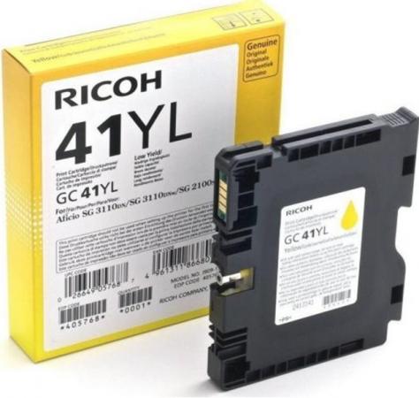 Картридж LE GC41YL для Ricoh Aficio желтый