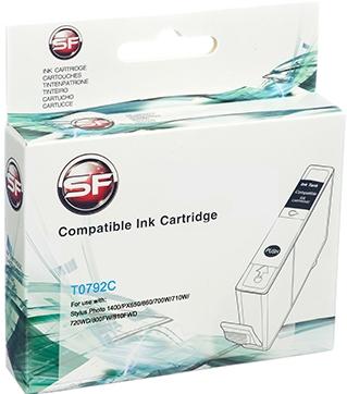 Совместимый картридж SuperFine T0792 голубой для Epson