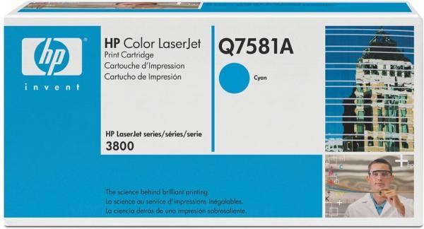Картридж HP Q7581A голубой оригинал