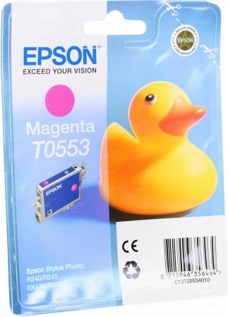 Картридж Epson T0553 (C13T05534010) пурпурный оригинальный
