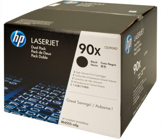 Картридж HP CE390XD черный двойная упаковка оригинальный