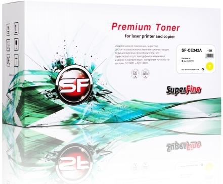 Картридж совместимый SuperFine CE342A желтый для HP