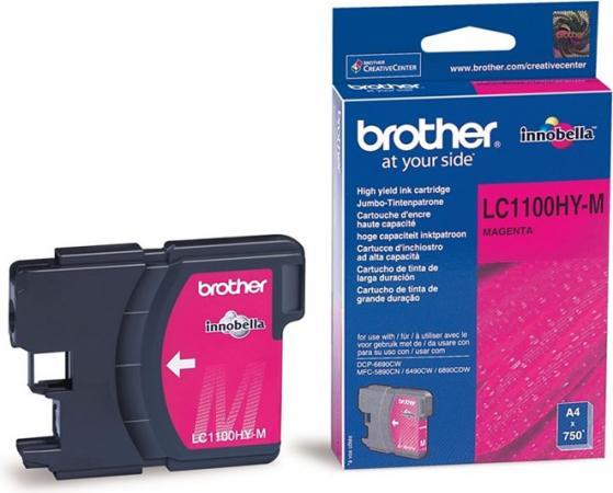 Картридж Brother LC1100_HYM пурпурный оригинальный
