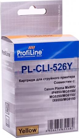 Картридж совместимый ProfiLine CLI-526Y для Canon желтый с чипом