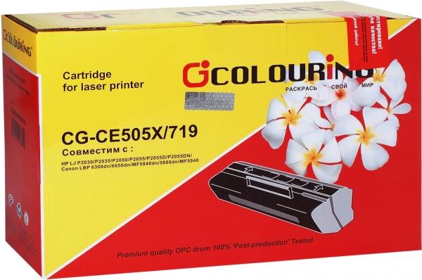 Картридж совместимый Colouring CE505X/719H для HP и Canon