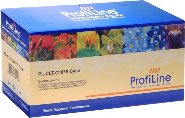 Картридж совместимый ProfiLine CLT-C407S Cyan для Samsung