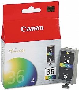 Картридж Canon CLI-36 цветной оригинальный