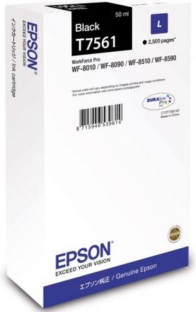Картридж Epson T7561 (C13T756140) черный оригинальный