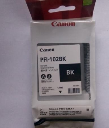 Картридж Canon PFI-102BK черный оригинальный