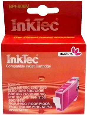 Картридж совместимый InkTec 6M пурпурный для Canon