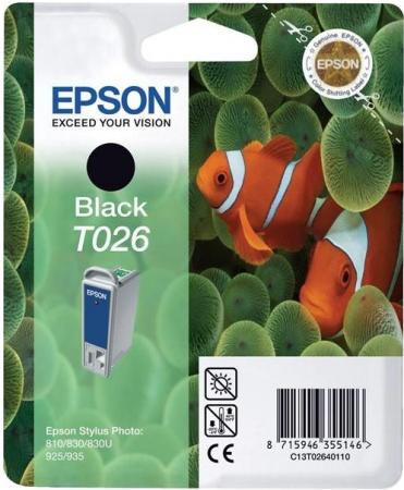 Картридж EPSON T026 черный оригинальный