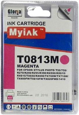 Картридж совместимый MyInk T0823 красный для Epson