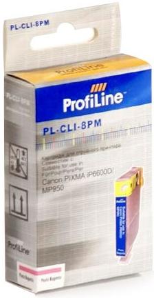 Картридж совместимый ProfiLine CLI-8PM для Canon пурпурный с чипом