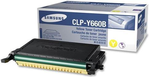 Картридж Samsung CLP-Y660B желтый оригинальный