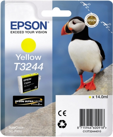 Картридж EPSON T3244 (C13T32444010) желтый оригинальный