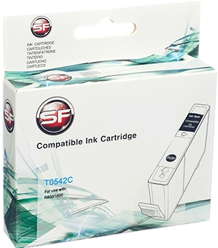 Совместимый картридж SuperFine T0542 голубой для EPSON