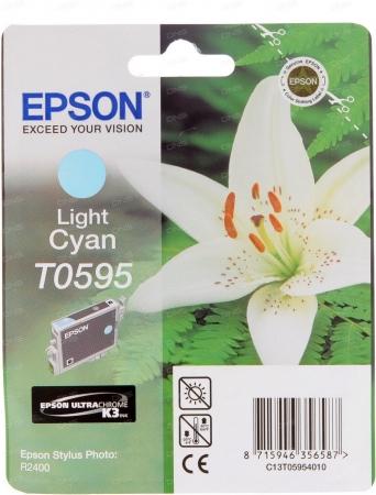 Картридж струйный Epson T0595 (C13T05954010) светло-голубой оригинальный