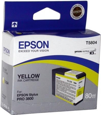 Картридж Epson T5804 (C13T580400) желтый оригинальный