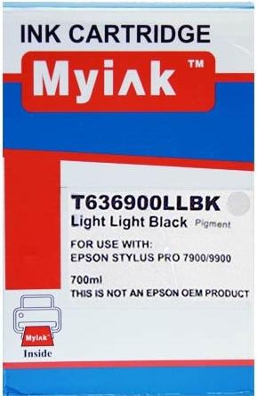 Картридж совместимый MyInk T6369 светло серый для Epson