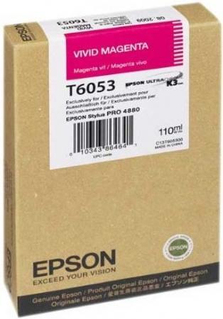 Картридж EPSON C13T605300 насыщенный пурпурный оригинальный