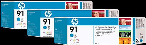 Картридж HP C9483A голубой тройная упаковка оригинал
