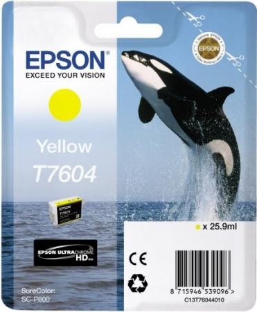 Картридж Epson C13T76044010 желтый оригинальный
