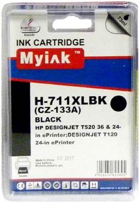 Картридж совместимый MyInk CZ133A черный для HP