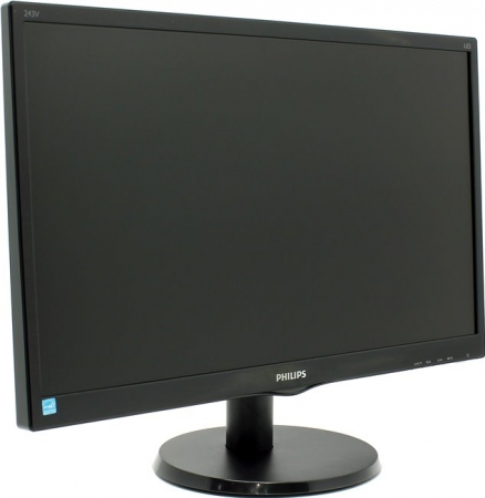 "Монитор 23.6"" PHILIPS 243V5LAB/00(01) Black"