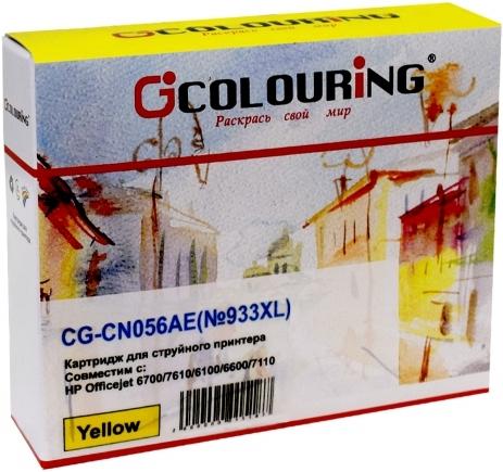 Картридж совместимый Colouring CN056AE желтый для HP