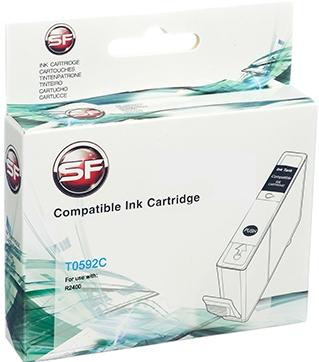 Совместимый картридж SuperFine T0592C голубой для EPSON