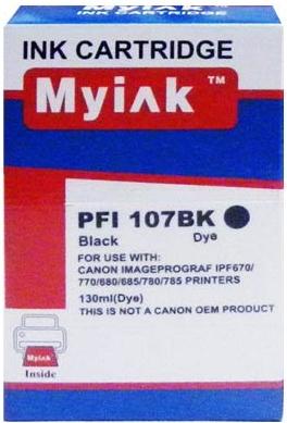 Картридж совместимый MyInk PFI-107BK черный для Canon