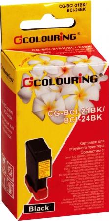 Картридж совместимый Colouring BCI-21 & BCI-24 для Canon черный