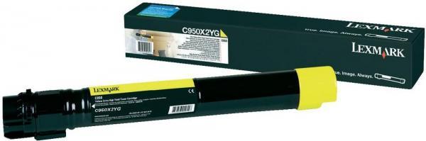 Картридж Lexmark C950X2YG желтый оригинальный