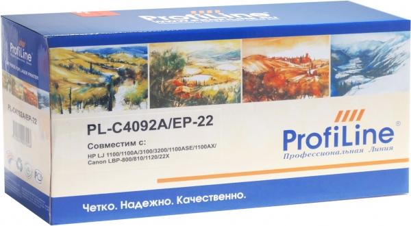 Картридж совместимый ProfiLine C4092A/EP-22 black для HP