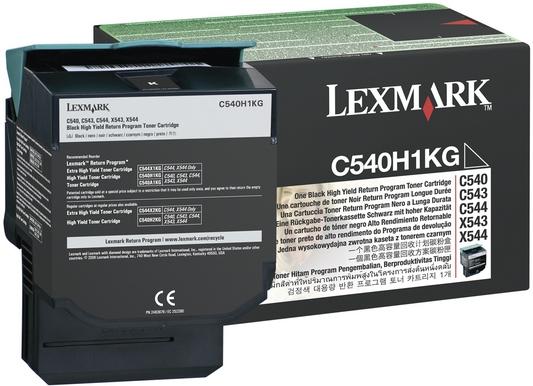 Тонер-Картридж Lexmark C540H1KG черный оригинальный