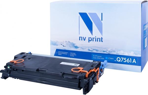 Картридж совместимый NVP Q7561A голубой для HP