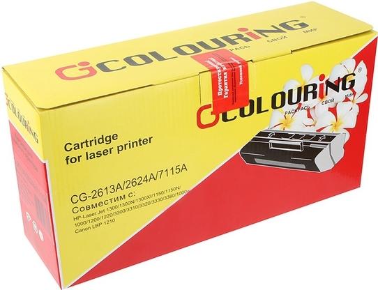 Картридж совместимый Colouring Q2613A/Q2624A/C7115A/EP-25 для HP и Canon