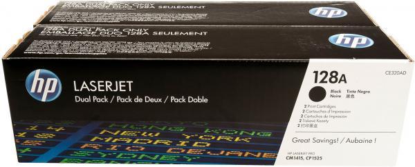 Картридж HP CE320AD черный двойная упаковка оригинальный