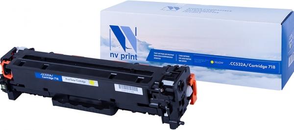 Картридж совместимый NV Print CC532A желтый для HP