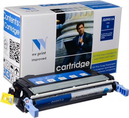 Картридж HP Q5951A голубой совместимый NV Print