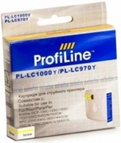 Картридж совместимый ProfiLine LC1000Y/LC970Y для Brother желтый