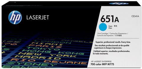 Картридж HP CE341A голубой оригинальный