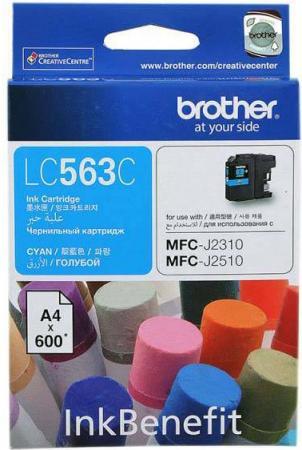 Картридж Brother LC563C голубой оригинальный
