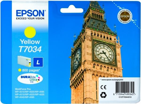Картридж EPSON T7034 (C13T70344010) желтый оригинальный
