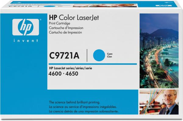 Картридж HP C9721A голубой оригинальный
