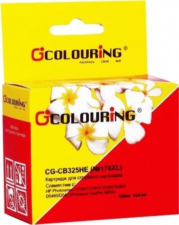 Картридж совместимый Colouring CB325HE №178XL для HP желтый