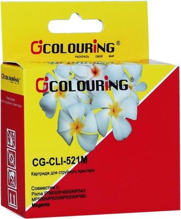 Картридж совместимый Colouring CLI-521M для Canon с чипом