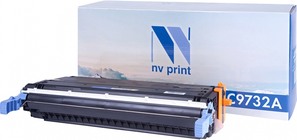 Картридж совместимый NVPrint C9732A для HP желтый