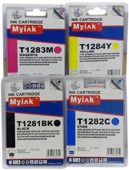 Картридж совместимый MyInk T128 синий для Epson